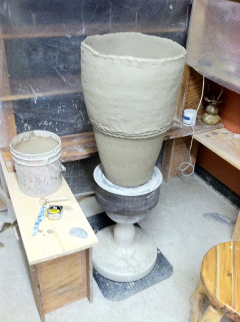 Big Pottery Coil Building And Stacked Sculptures Joel