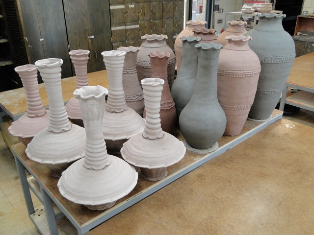 big pottery  coil building and stacked sculptures  u2013 joel