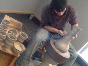 Joel Cherrico, Hump Throwing Pottery, Photo by Amy Braig-Lindstrom