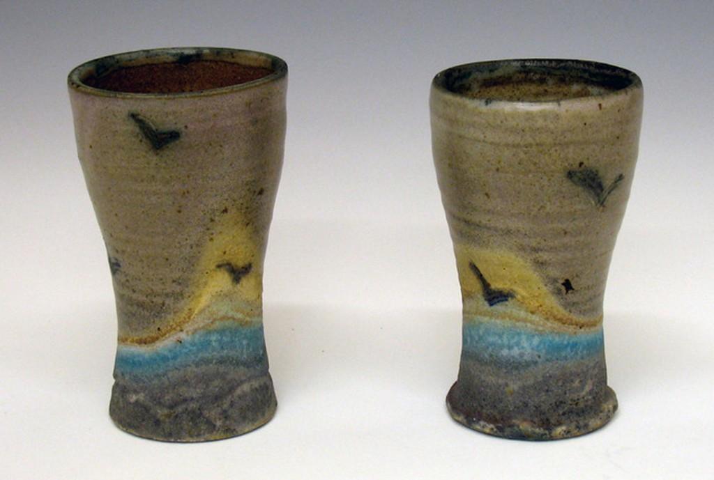 Oceanscape-Cups-Joel-Cherrico-Pottery-2008