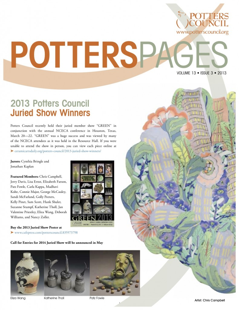 Page 1, Potters Pages, Potters Council 2013
