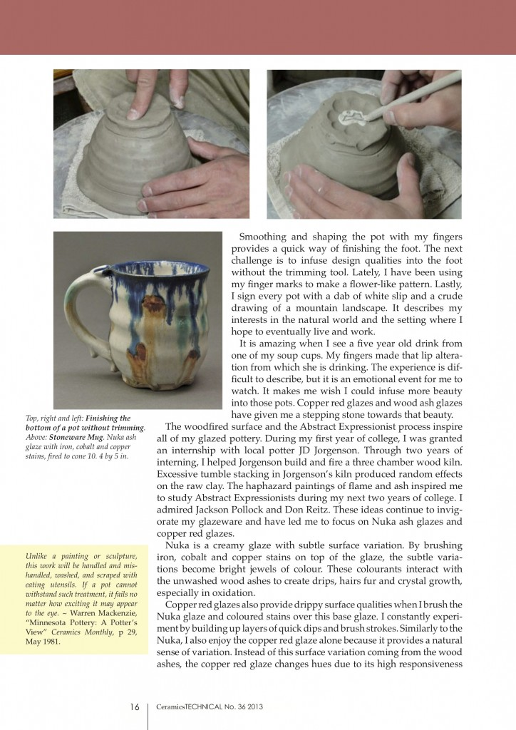 Page 3, Joel Cherrico Pottery, Ceramics Art and Perception, Technical, Handmade Grounds at the Local Blend, 2013