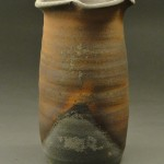 Wood Fired Stoneware Pottery Vases, natural ash glaze 1