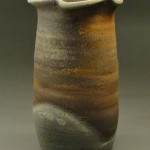 Wood Fired Stoneware Pottery Vases, natural ash glaze 2