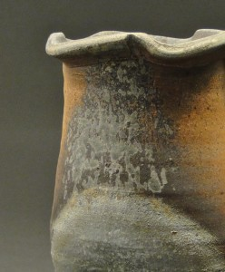 Wood Fired Stoneware Pottery Vases, natural ash glaze 4