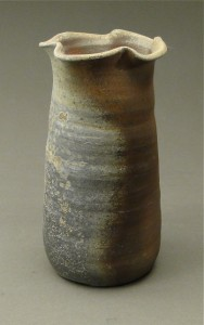 Wood Fired Stoneware Pottery Vases, natural ash glaze 5