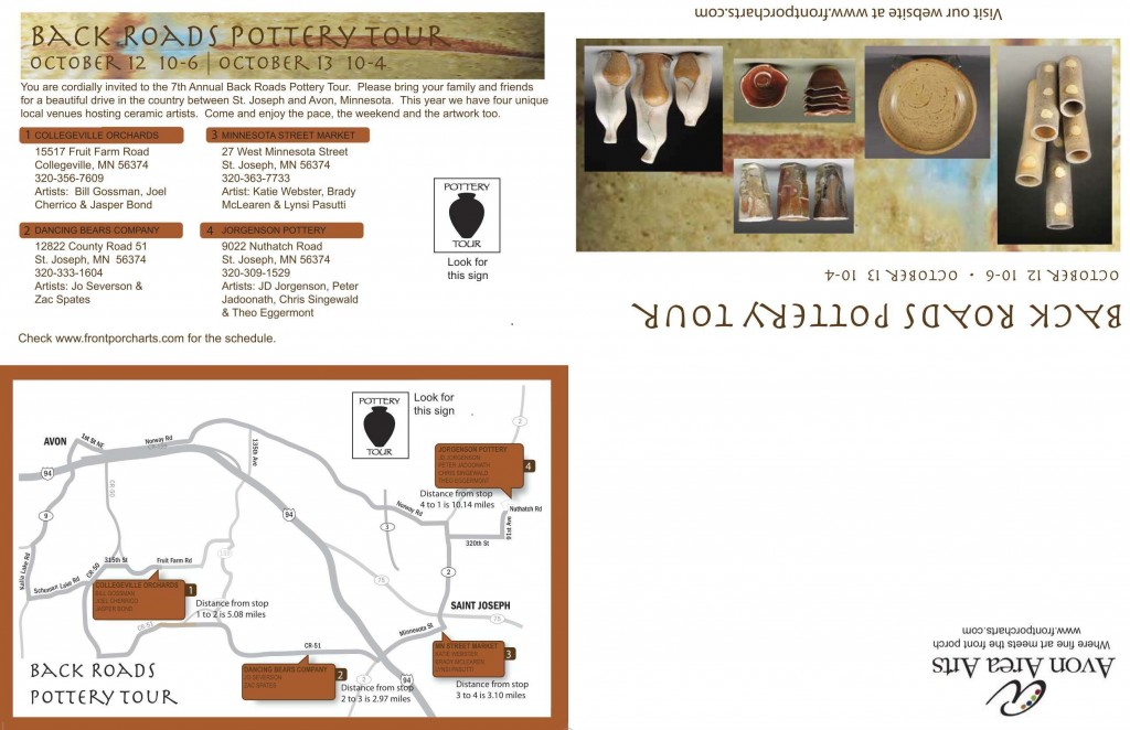 2013 Pottery Tour Mailer side