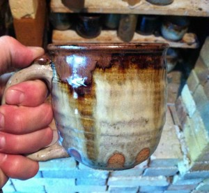 BWP Beer Mugs, Stoneware Clay, Joel Cherrico, Nuka glaze with Iron, 2013
