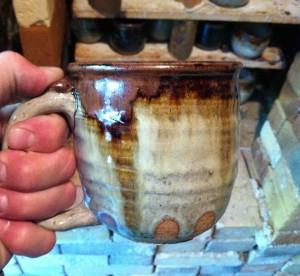 BWP Beer Mugs, Stoneware Clay, Joel Cherrico, Nuka glaze with Iron, 2013