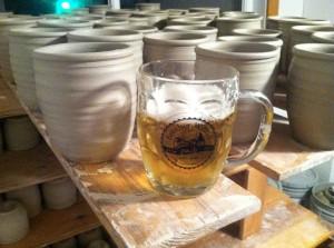 Brother Willie's Pub, Stoneware Beer Mugs, St. John's University, Cherrico Pottery, 2013