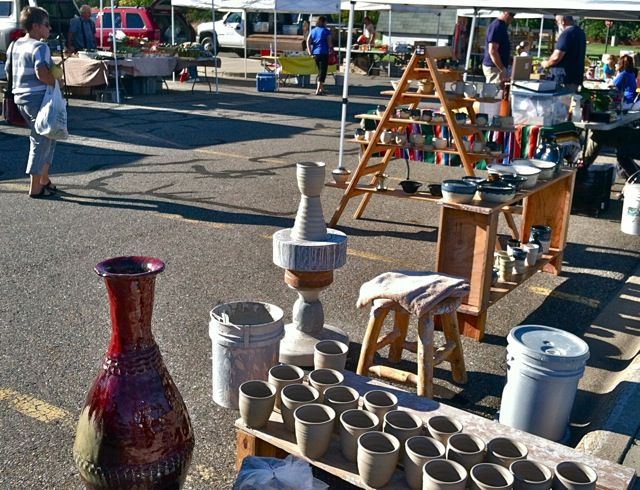 Sartell Market Monday, Pottery at Farmers' Markets, Joel Cherrico Pottery, Copper Red Jar, Coil Pot