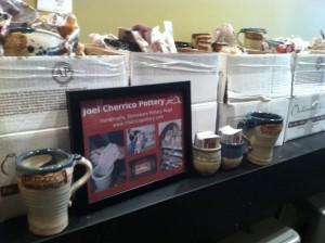Duluth Coffee Company, Joel Cherrico Pottery Stamped Mugs, 2013 Stoneware Mugs