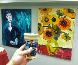 Paige Dansinger Paintings, Joel Cherrico, Artist Tableware, 2013, Gallery Paige, Van Gogh
