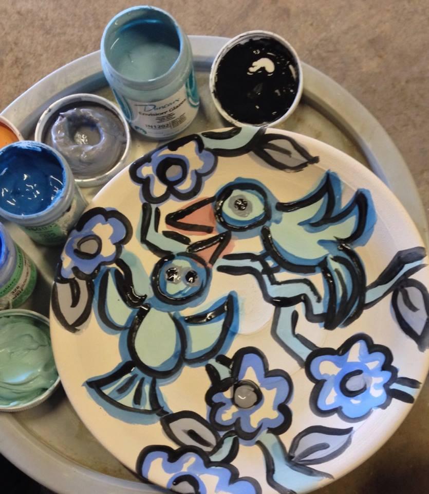 ... Paige Dansinger Painting on Plates Joel Cherrico Pottery Handmade Ceramic Painted Plates & Joel Cherrico Pottery   Handmade Art You Can Use Everyday   Page 20