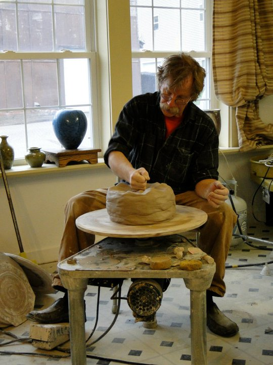 Bill Gossman, Stoneware Throwing in Sections, Joel Cherricon Pottery, Big Pots