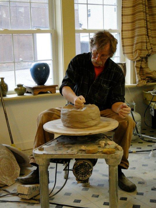 Bill Gossman, Stoneware Throwing in Sections, Joel Cherricon Pottery, Big Pots