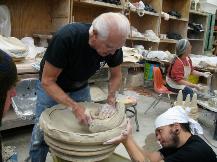 Don Reitz, Abstract Expressionism, Clay Sculpture, Pottery, Massive Clay Work, Joel Cherrico Pottery, Flagstaff, Arizona