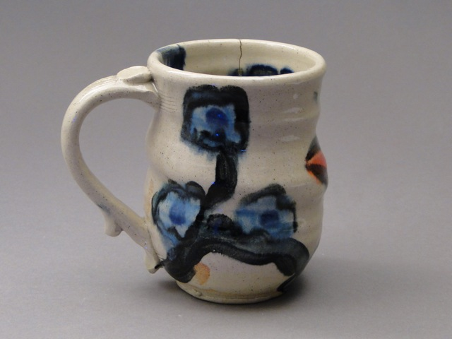 Paige Dansinger and Joel Cherrico Collaboration, Artist Pottery, Stoneware Mug, 20141