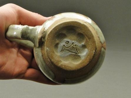 Stoneware Mug Signature by Joel Cherrico, Carved through Porcelain, 2014