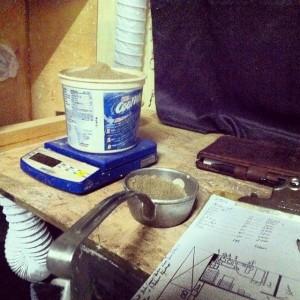Pottery Alchemy, Joel Cherrico Pottery, Glaze Mixing, Cone 10 Stoneware, 2014