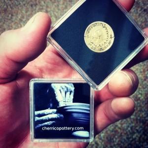 Joel Cherrico Pottery Business Card Coins