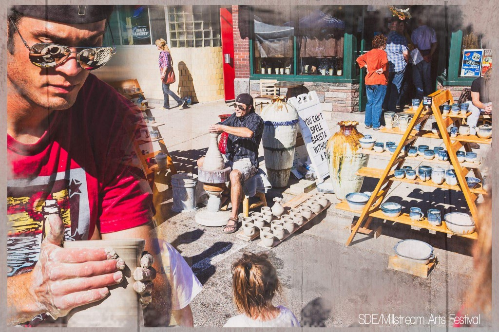 Photo-by-Steve-Diamond-Elements-Millstream-Arts-Festival-Joel-Cherrico-Pottery-The-Local-Blend-Coffee-Shop
