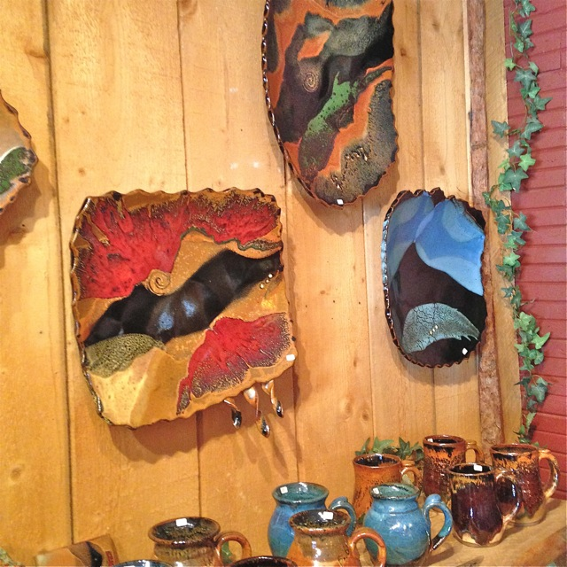 Prairie Fire Pottery, Showroom, Beach North Dakota Pottery