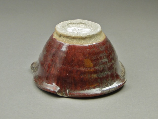 Handmade Pottery Ceramic Copper Red Bowl, Wheel-Thrown pottery, Handmade Stoneware, SKU 445, Image 3