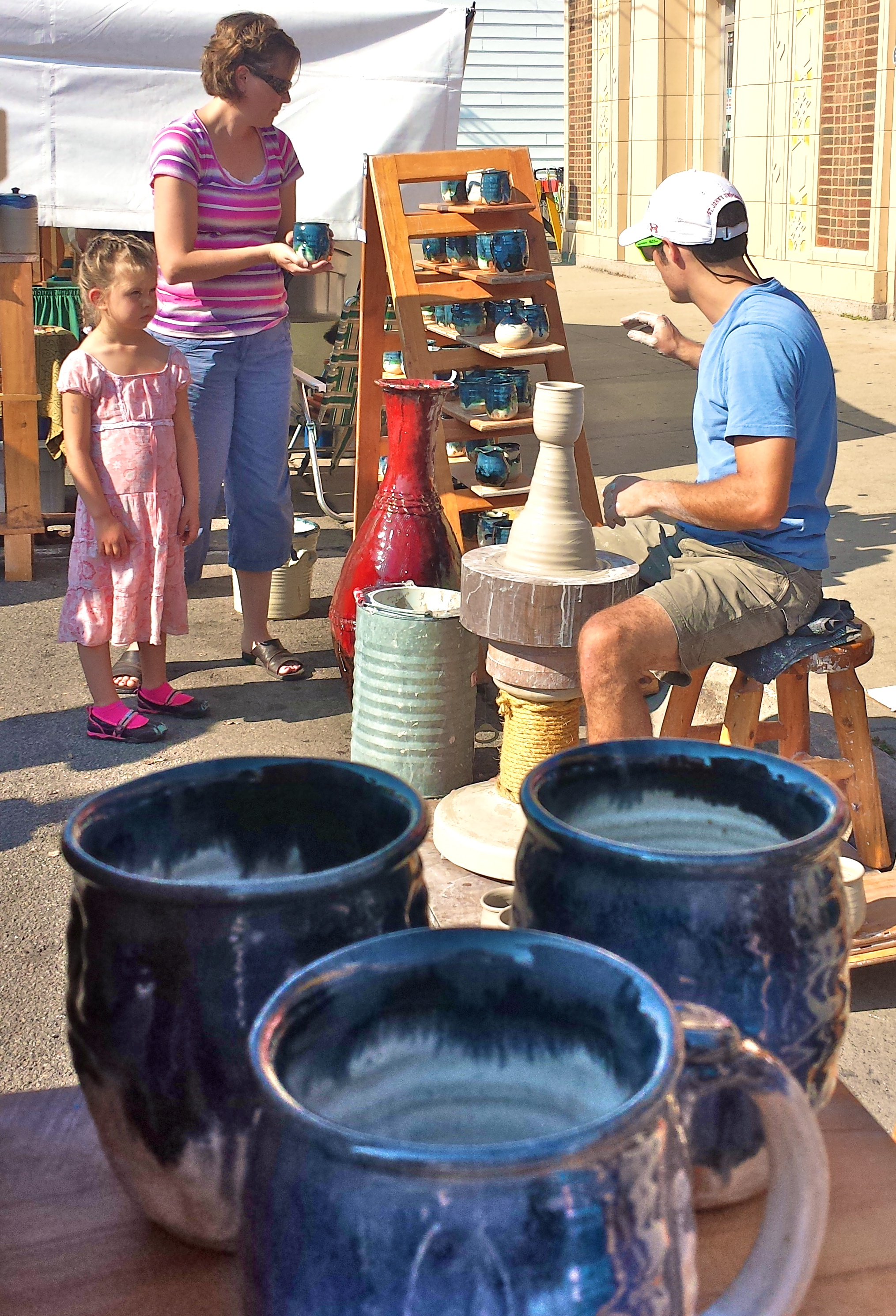 Joel Cherrico Pottery Stoneware Nuka Glaze Pots St Joseph Minnesota Millstream Arts