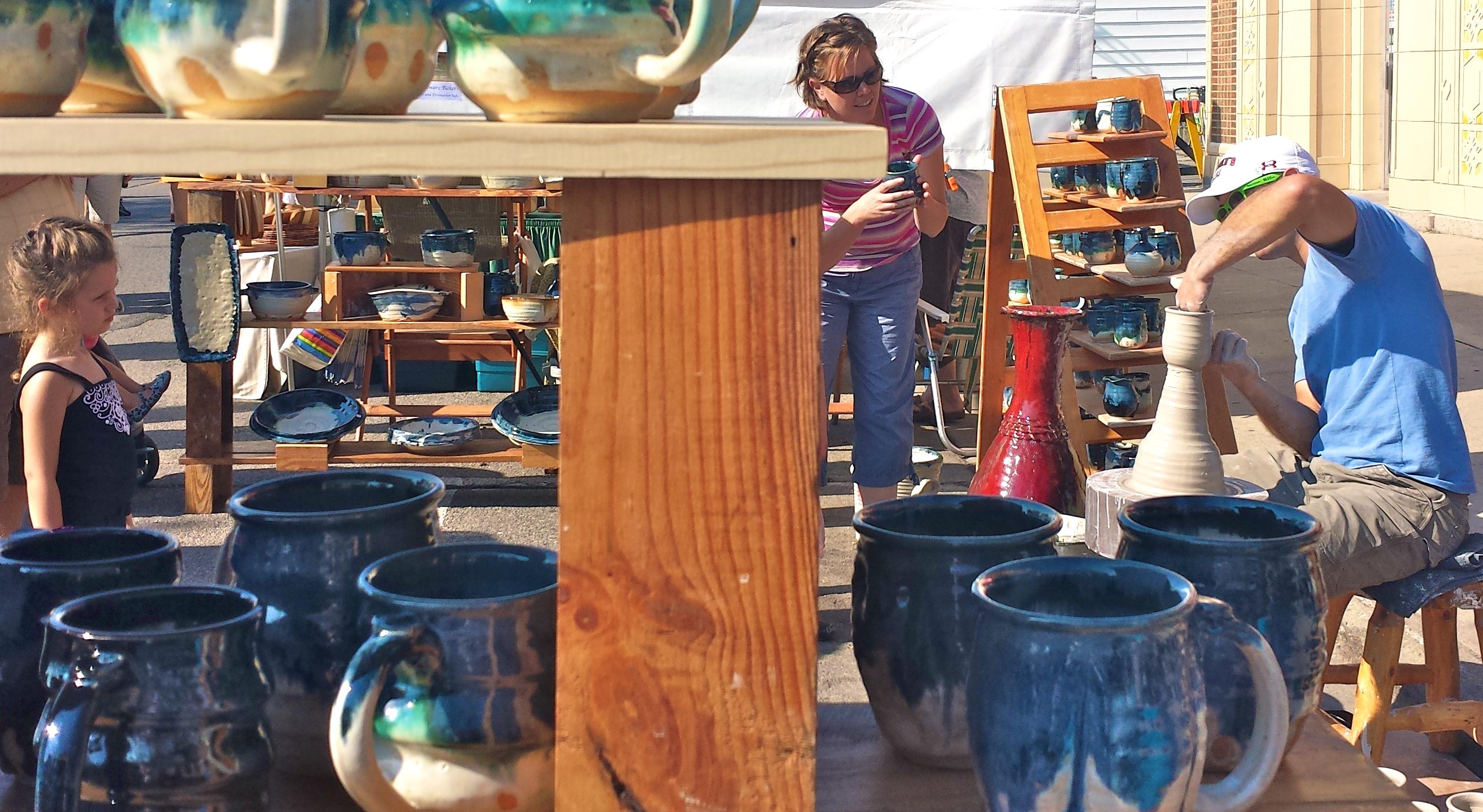Joel Cherrico Pottery St. Joseph Minnesota Millstream Arts Stoneware Pots Throwing