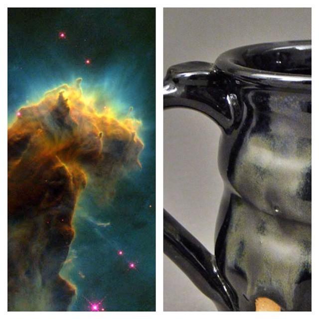 Cosmic Mugs, Cherrico Pottery, Star Birth Cloud, 2014