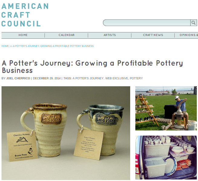 A Potter's Journey, American Craft Council, 2014, Part Six