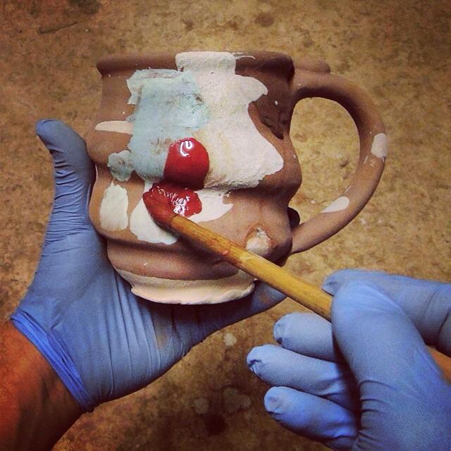 Cosmic Mugs, Cosmic Pottery Mug, Cherrico Pottery 2015