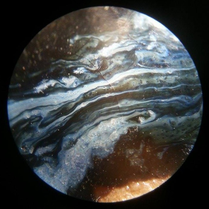 Cosmic Pottery, Detail, Microscope Glaze, Photo by Jon Cahil