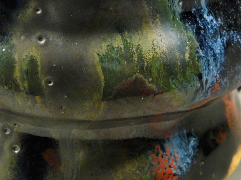 Cosmic Pottery Mug, Stoneware Glaze Detail, Cherrico Pottery, 2015