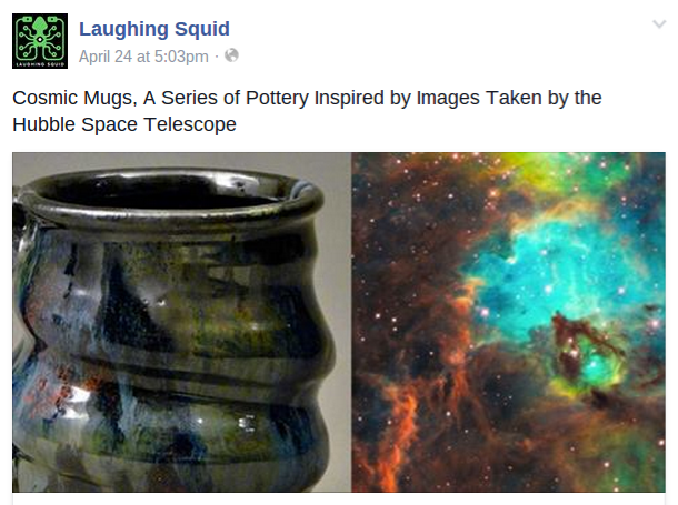 Laughing Squid, Cherrico Pottery, Facebook, Cosmic Mugs