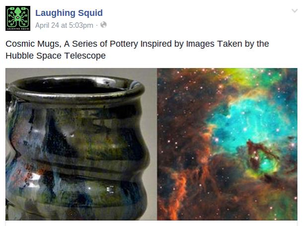 Laughing Squid, Cherrico Pottery, Facebook, Cosmic Mugs