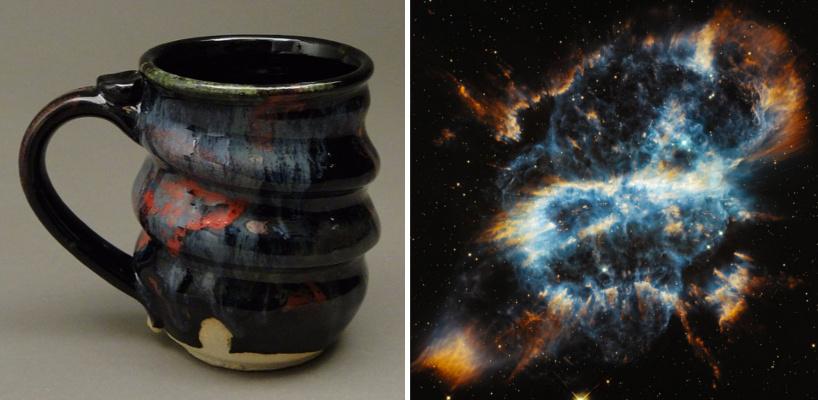 08, Cosmic Mug and Planetary Nebula STScI-PRC2012-49, Cherrico Pottery, Hubblesite.org