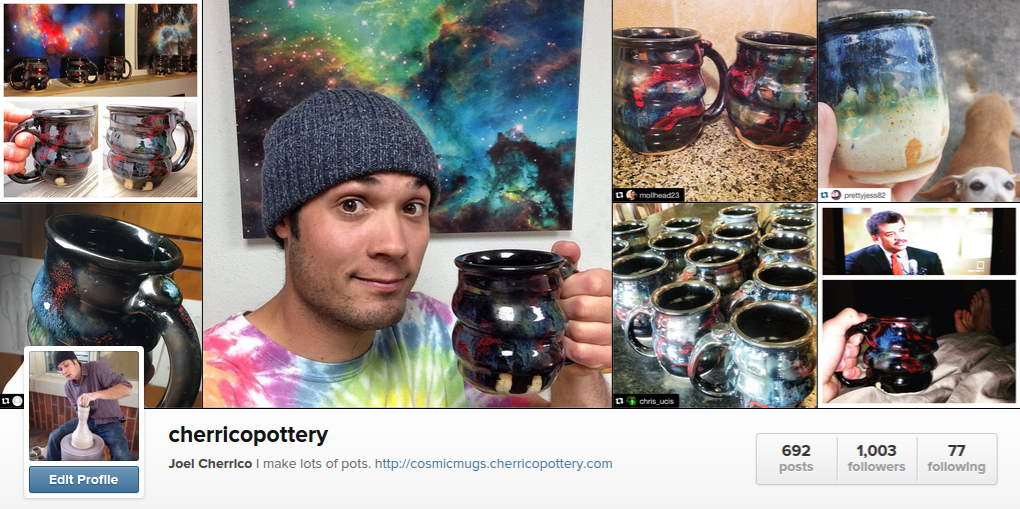 Cosmic Mugs, Instagram, Cherrico Pottery 2015