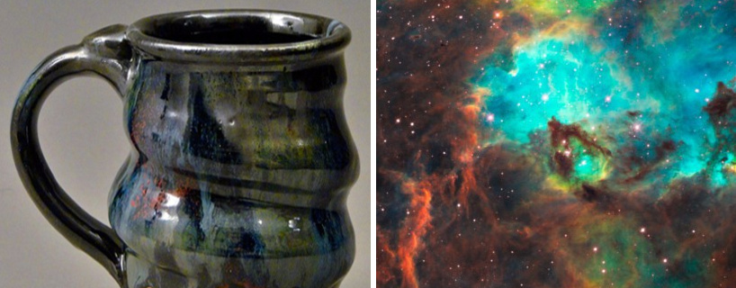 image 02, Cosmic Mug and the Star Cluster NGC 2074 in the Large Magellanic Cloud, Cherrico Pottery, Hubblesite.org