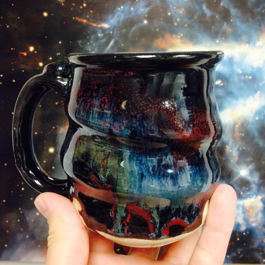 9.18.15 Cosmic Mug, Cherrico Pottery