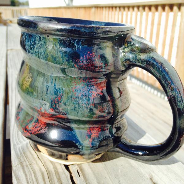 9.25.15 Cosmic Mug, Cherrico Pottery