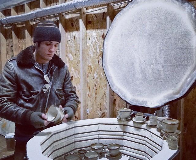 Cherrico Pottery Kiln Unloading
