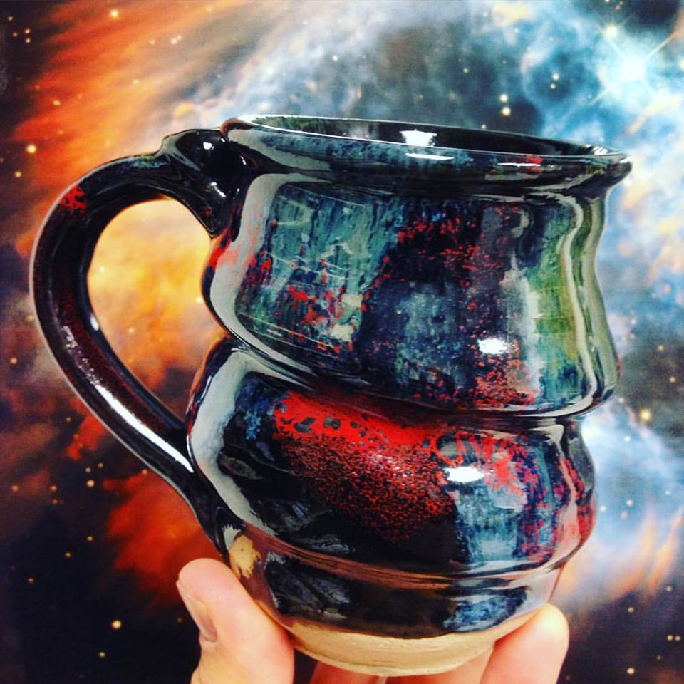 Cosmic Mug in front of a Planetary Nebula, October