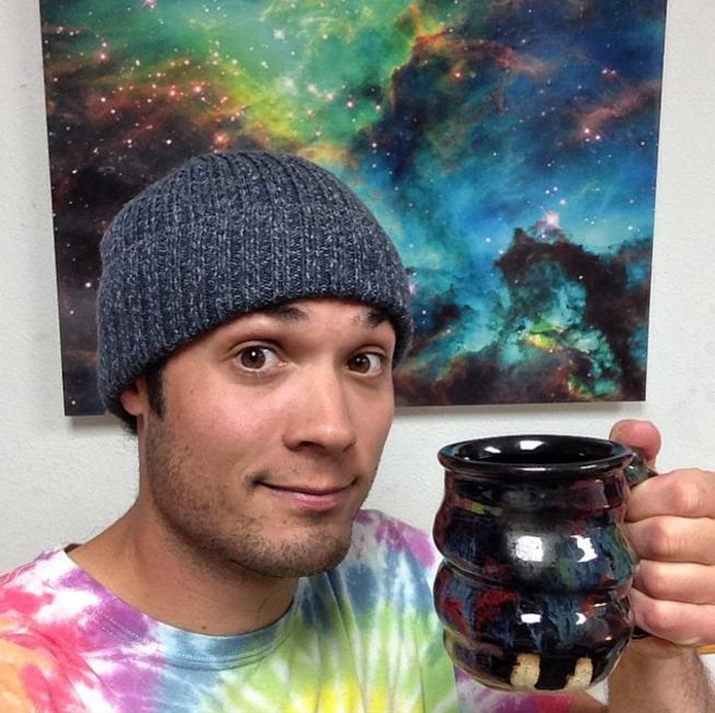 Cosmic Cheers Headshot, Cherrico Pottery