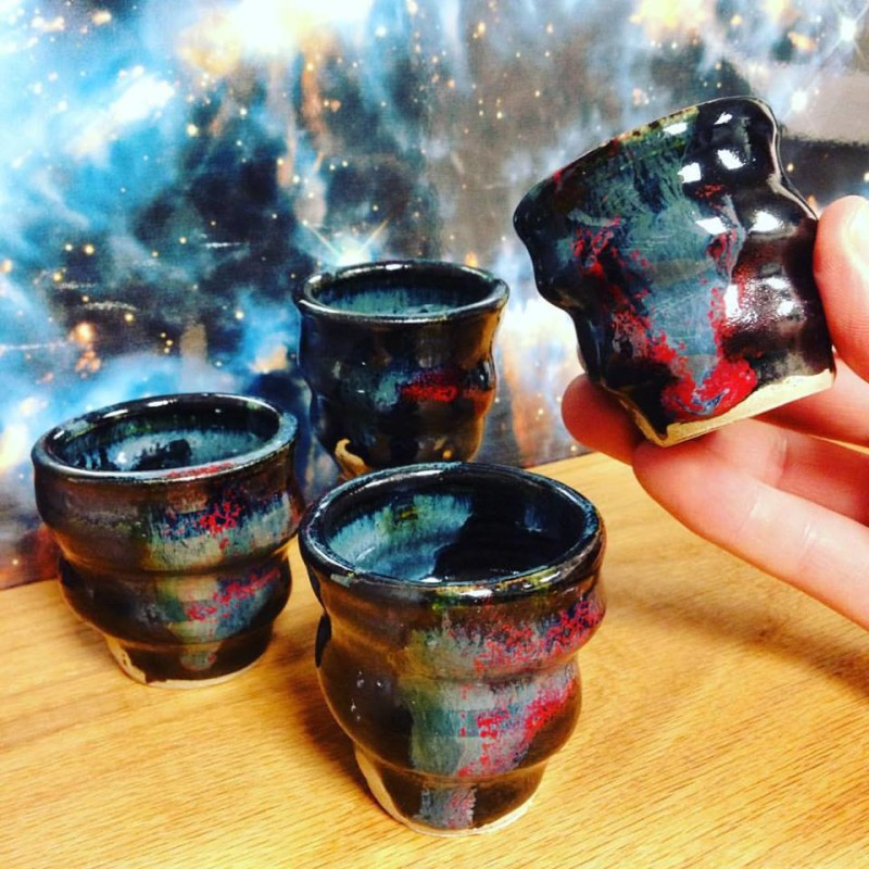 Cosmic Shot Cups, Image 2, Cherrico Pottery