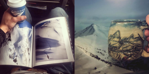 Amtrak and Mountain, Photos by Cherrico Pottery