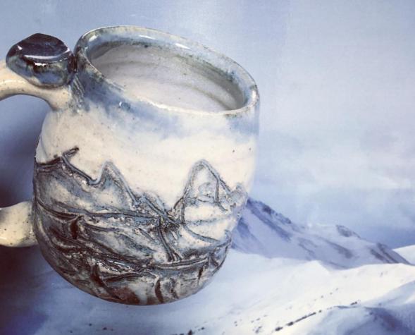 Mountain Mug, Cherrico Pottery, LLC, Copper Mt. CO