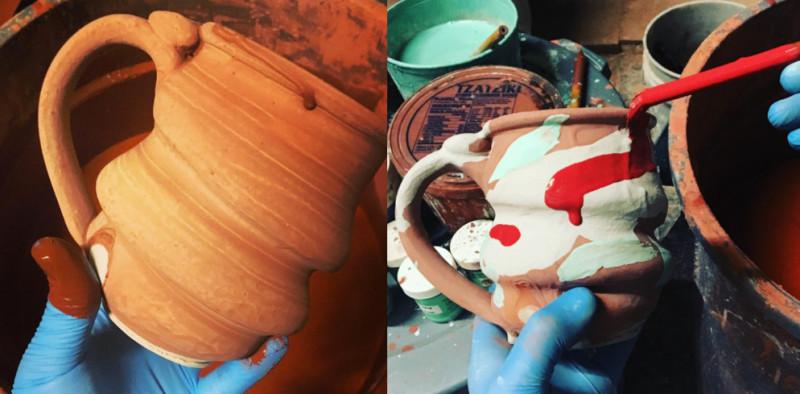 Cosmic Mug Processs Shot, Cherrico Pottery