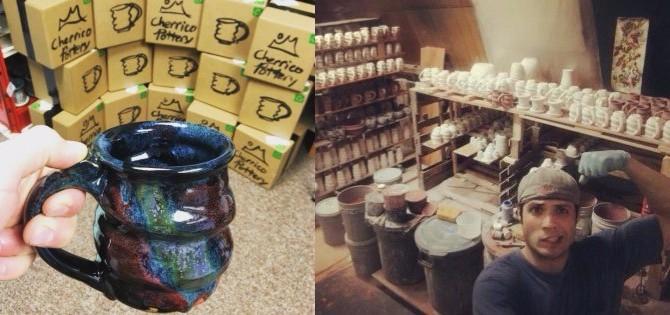 Cherrico Pottery Shipping Cosmic Mugs and Glazing